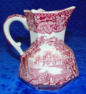 Vintage Mason's 16-ounce Hydra Jug Ironstone Pitcher in the Pink Vista Pattern