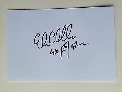 "Athletics Edwin Moses signed 6"" X 4"" Index card"
