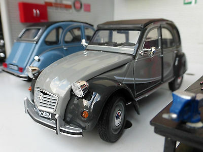 G LGB 1:24 Scale Citroen 2CV Charleston Grey Welly Diecast Super Detailed Model