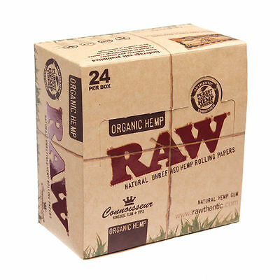 RAW Connoisseur KING SIZE SLIM Rolling Papers with Tips Organic Hemp