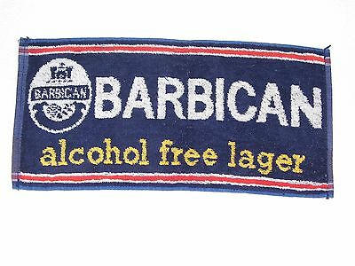 BAR BEER TOWELS - BARBICAN -alcohol free lager -  Used - Good Condition
