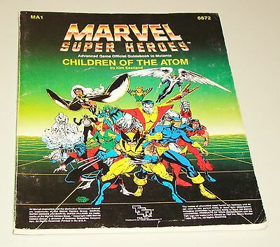 1986 Marvel Super Heroes Children of the Atom Book - 6872