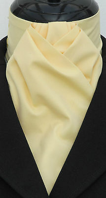 Ready Tied Plain Rich Cream Cotton Dressage Riding Stock - Show Tie Hunting