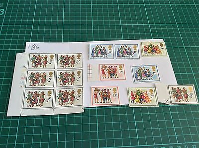 GB mint and unmounted Stamp blocks  1978 Unfolded Mint (166)