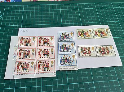 GB mint and unmounted Stamp blocks  1978 Unfolded Mint (165)