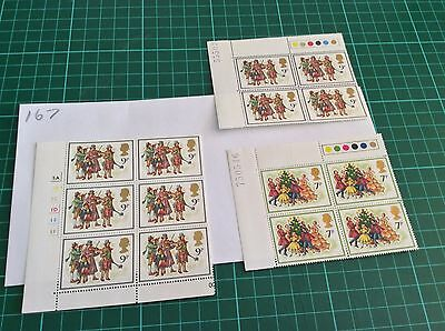GB mint and unmounted Stamp blocks  1978 Unfolded Mint (167)