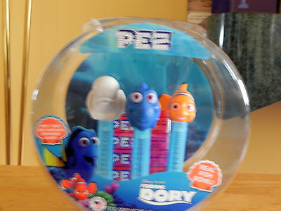 Disney Finding Dory 3 Dispenser Pez Collectible Set In Fish Bowl Display New