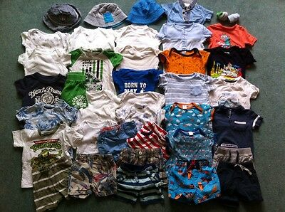 Spring/Summer Bundle Of 40 Boys Items 3-6 Months - Miniclub, TU, Next, Converse