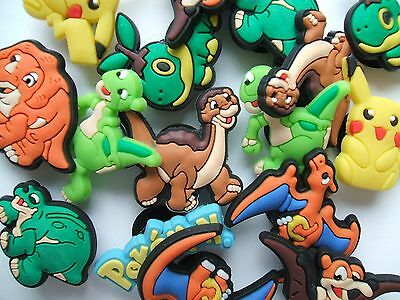SHOE CHARMS (J2) - inspired by PIKACHU DINOSAUR & LAND BEFORE TIME