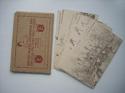 "british Empire Exhibition, 1924 pack of 12 Postcards edition  ""e"""
