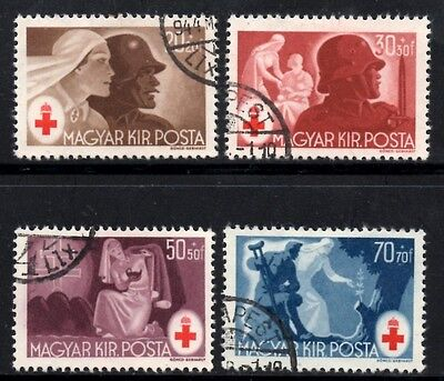 Hungary 1944  Red Cross Fund  SG.772-775  Used Set of 4