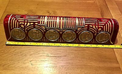 """Paolo Soprani Accordion Sound Box Cover 18"""" Red MOP Deco Notes - Spares /Repair"""