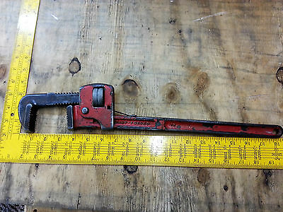 """Vintage 18"""" Steel Pipe Wrench made in Spain"""