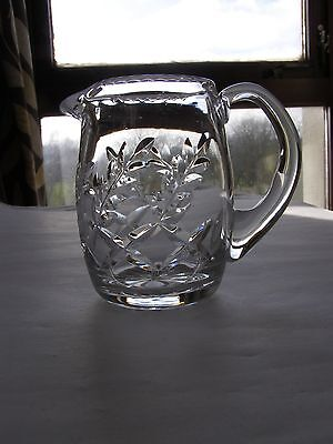 Vintage Crystal Milk Jug Hand Blow and Hand Cut