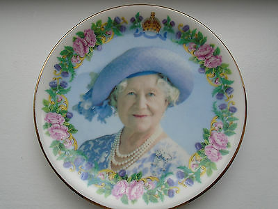 commemorate bone china plate 100thbirthday QUEEN ELIZABETH