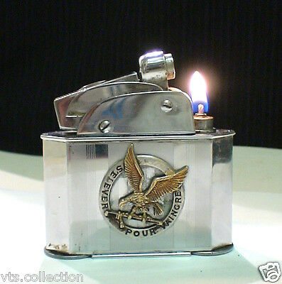 Briquet ancien Table MYON Géant Badge Indochine or World WAR Lighter Feuerzeug