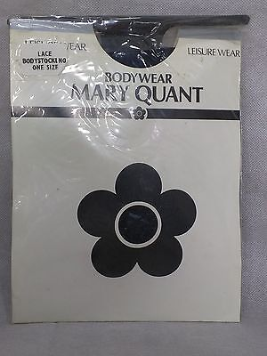 Black lace body stocking bodywear Mary Quant lingerie vintage new bodystocking
