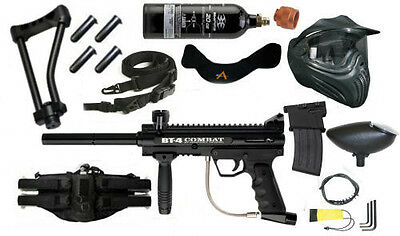BT Combat Paintball Kit with mods Wire Stock+Mag + Sling + FREE CO2 Tank