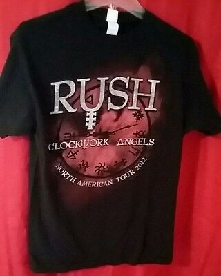 RUSH Concert t-shirt black N. American Rock 2012 Clockwork Angels mens Med. NWOT