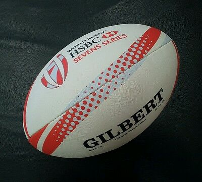 Gilbert HSBC World Rugby Sevens 7s Series Full Size 5 Official Replica Ball *NEW