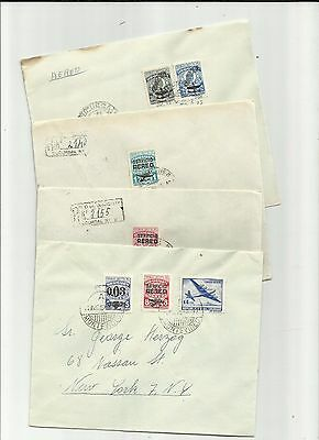 Uruguay 1946 airmail covers different rates x 4