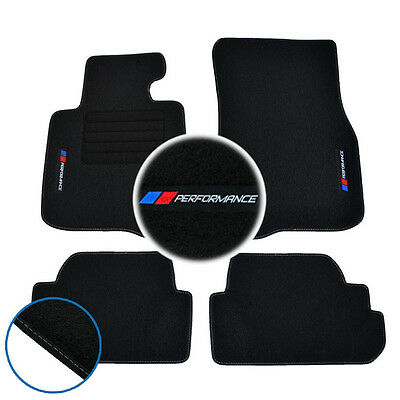 4 Tapis Sol Bmw Serie 4 F32 Coupe 03/2013-Up Moquette Specifique Performance M