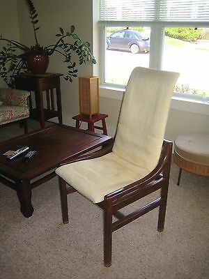 Set of 6 HENREDON Walnut Mid-Century Modern Danish Style Dining Chairs