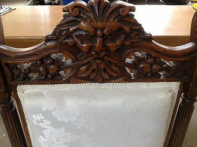 Antique Carved Walnut or Oak GREEN MAN SPIRIT OF THE FOREST SIDE CHAIR