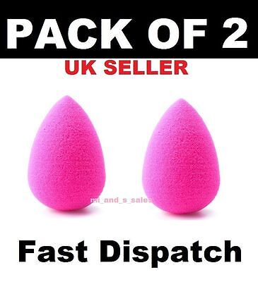2 x Beauty Foundation blending Makeup Sponge blender Egg shaped Flawless smooth