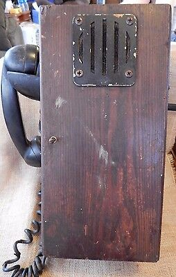 Antique Vintage 145-W WALL TYPE MAGNETO PHONE WOODEN BOX Connecticut Tel & elec