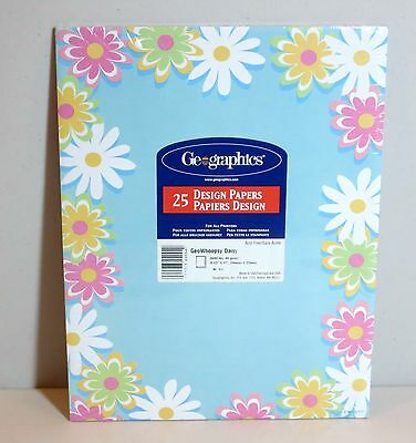 """GeoGraphics """"GeoWhoopsyDaisy"""" Design Papers - 25 sheets - Acid Free"""