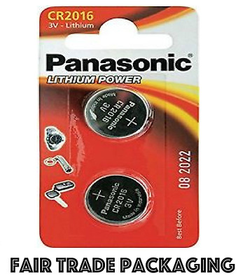 2 x Panasonic CR2016 3V Lithium Coin Cell Battery 2016 Watches Calculator Car