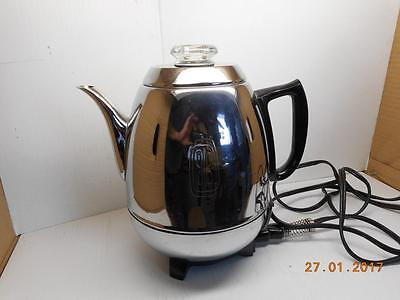 Vintage General Electric GE Percolator Chrome Coffee Maker P410 A  9 CUP