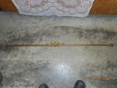 rare KIRSCH  antique curtain rod patina exquisite / extendable DOOR / WINDOW