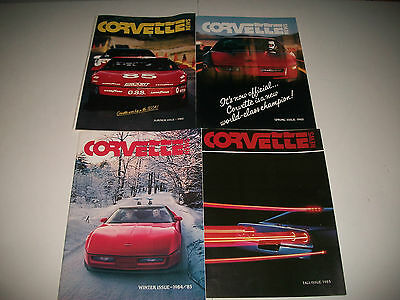 4 Corvette News Magazines  1984 /1985 4 Issues Complete Year Clean More Listed