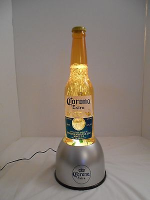 Corona Extra Beer Light Up Varying Speed Bubbling Motion Bottle Sign Display