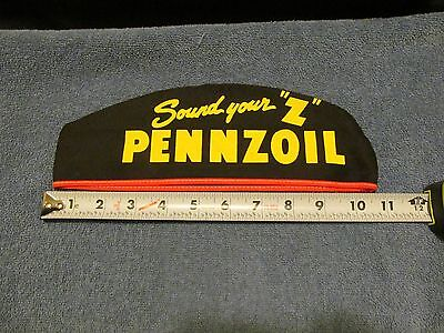 """Vintage PENNZOIL  Oil and Lubes Gas Station Attendant Hat  Sound your """"Z"""""""