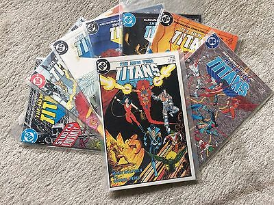 THE NEW TEEN TITANS Package - DC Comics - 1984/1985 - No.1, 3, 4, 5, 6, 7, 8, 10