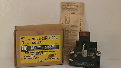 Square D Thermal Overload Relay 9065 C0-1R *new Surplus In Box*
