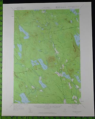 Lead Mountain Maine 1957 Antique USGS Topographic Map Printed 17x21