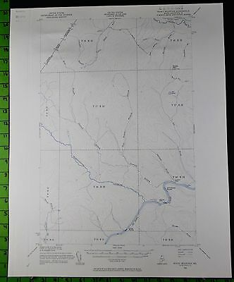 Rocky Mountain Maine 1955 Antique USGS Topographic Map Printed 17x21
