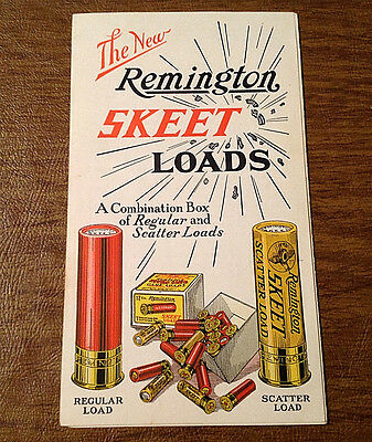 Rare The New Remington Skeet Loads Foldout Advertisement Brochure Form 133
