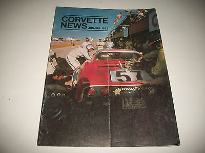 Corvette News Magazine June / July 1972 Issue Clean More Listed