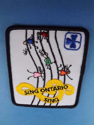 Girl Guides Canada Sing Ontario Sing Music Patch Collector