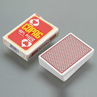 COPAG Poker Size Jumbo Face 100% Plastic Playing Cards Red - One Deck