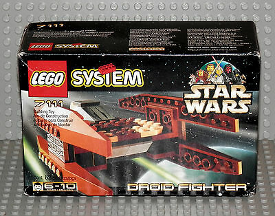 LEGO Star Wars 7111 Droid Fighter *New Factory-Sealed Box* 1999 Retired vintage