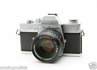 Minolta SRT-201 35mm SLR Film Camera + 50mm Lens + Film!