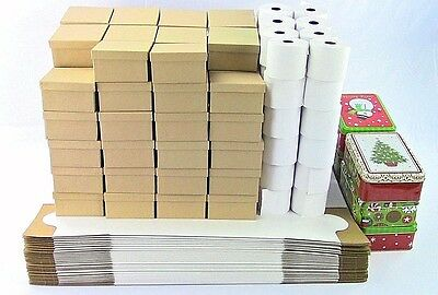 Huge Uline Retail Supplies Lot - Cake Boxes, Register Paper, Jewelry Boxes, Tins