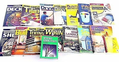 16 Home Re-modeling/ Construction Books - Painting, Drywall, Framing, Wiring +++