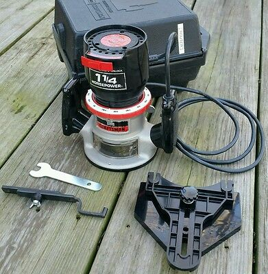USED SEARS CRAFTSMAN ROUTER 1.5HP 8 AMP 25000 RPM with CASE